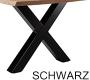 X-Gestell Schwarz Breit