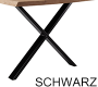 X-Gestell Schwarz Schmal