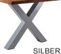 X-Gestell Silber Breit