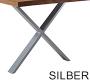 X-Gestell Silber Schmal